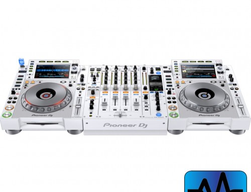 Limited Edition White Pioneer CDJ and DJM setup